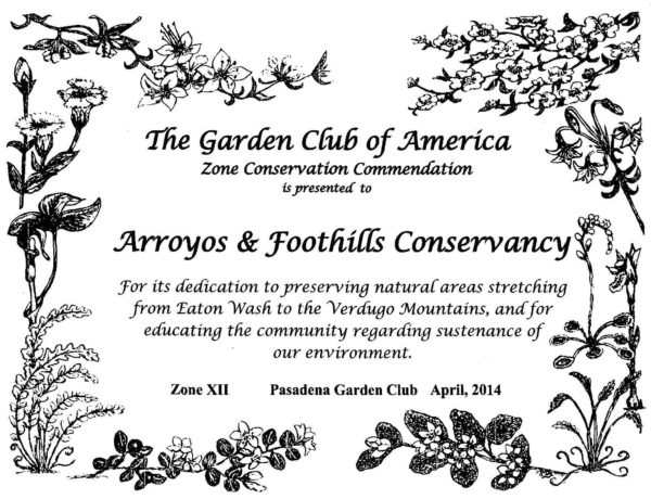 Garden Club of America Commendation