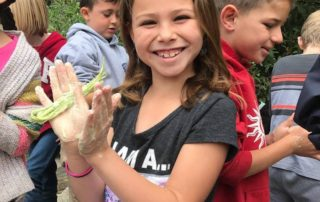 Monte Vista 2nd Grade Students making Yucca Soap