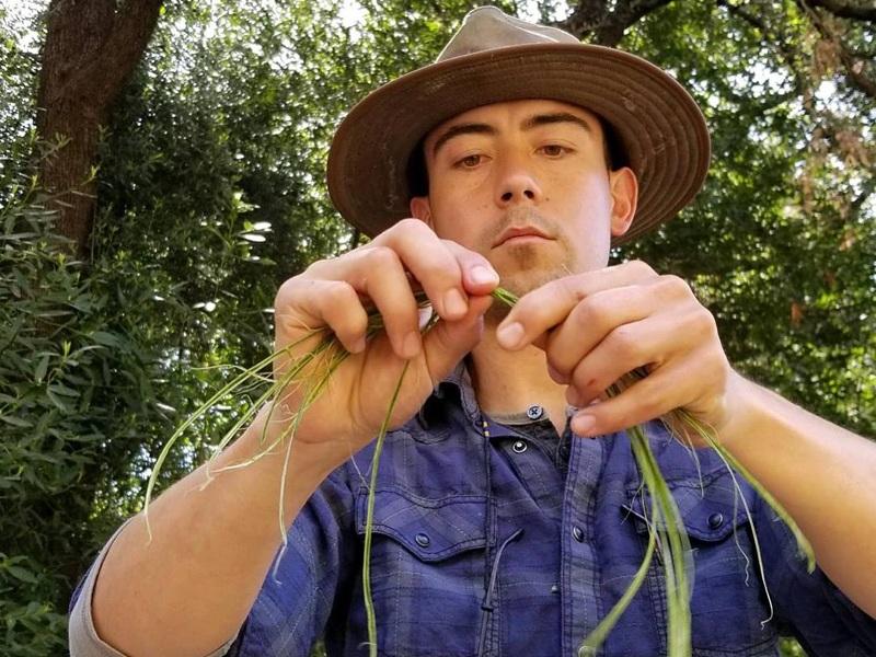 Tim Making Yucca Rope