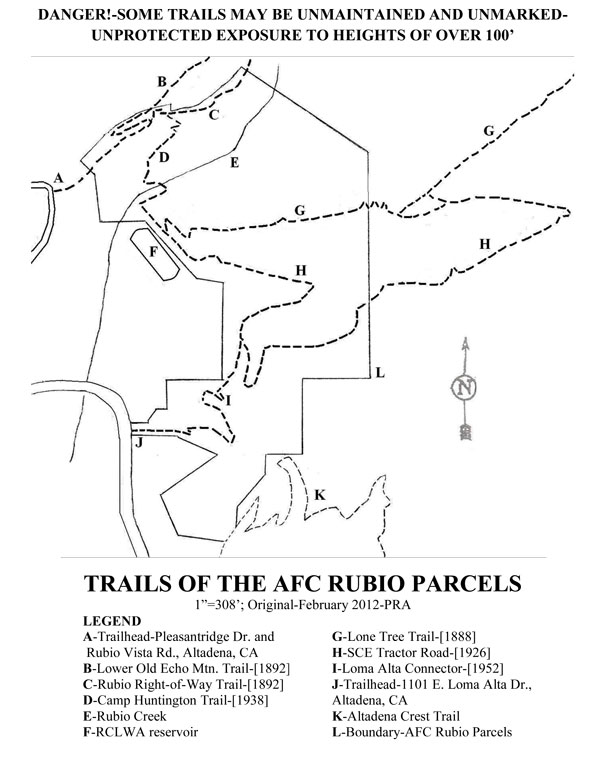 Rubio Trail Map