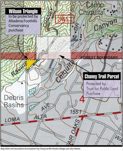 Chaney Trail & Wilson Triangle Map