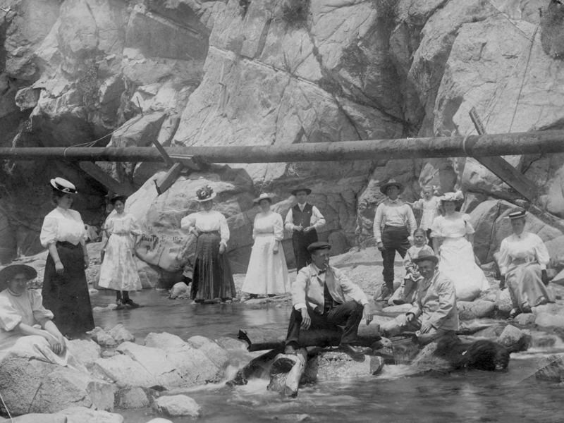 Group of People at an Unidentified Canyon